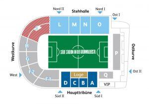 Grünwalder Stadion Stadionplan